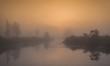 A beautiful foggy sunrise