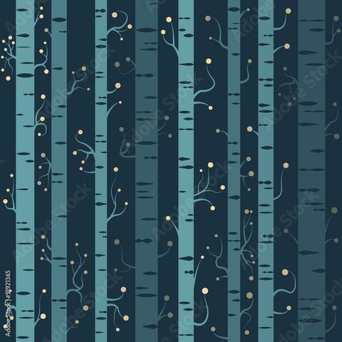 Cotton fabric Bäume Hintergrund nahtlos wiederholend Vektor Muster