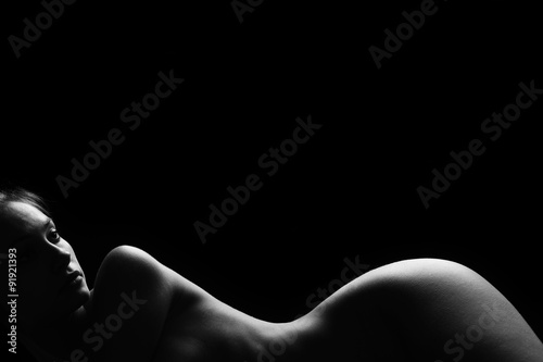 Fototapeta  Sexy body nude woman. Naked sensual beautiful girl.