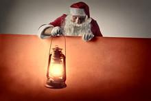 Santa Claus Holding A Lantern