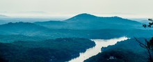 Scenes Near Chimney Rock And Lake Lure In Blue Ridge Mountains N