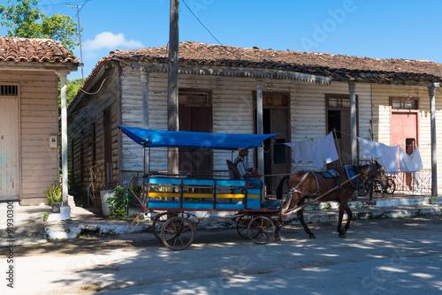 Fotografie, Obraz  Kuba fahrender Händler in Santa Clara