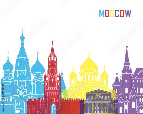Moscow skyline pop - 91932375
