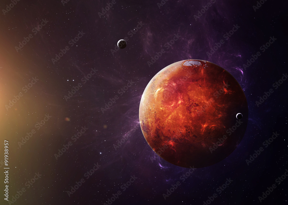 Fotografía  El Marte del espacio que muestra todo lo que la belleza