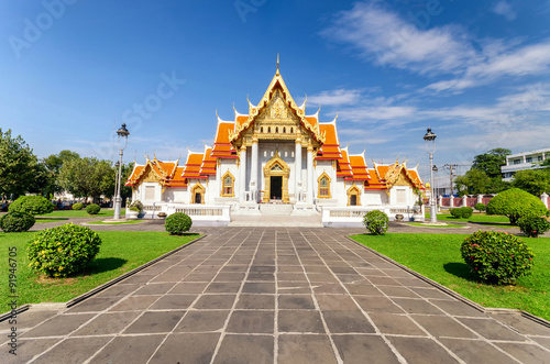 Wat Benchamabophit or Marble temple in Bangkok, Thailand Poster