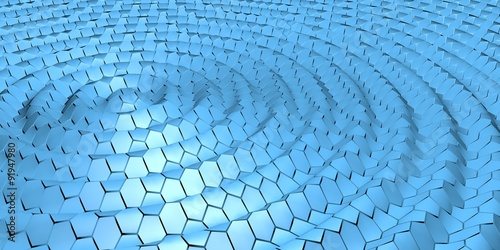 Fototapeta Water hexagons background