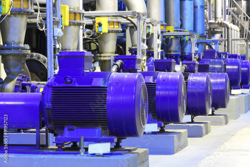 Fotografie, Tablou Factory equipment.Industrial business. Electric motor.