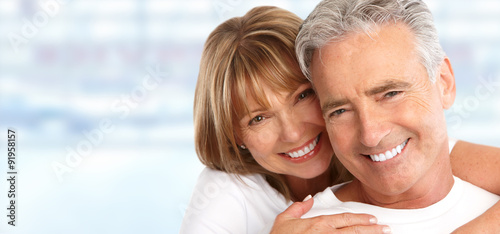 Fototapeta  Elderly couple with white teeth.