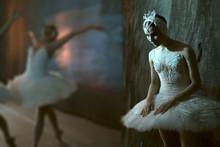 Ballerina Standing Backstage B...