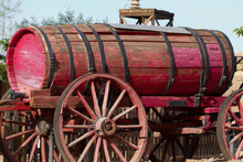 Vintage Red Fire Wagon In Cali...