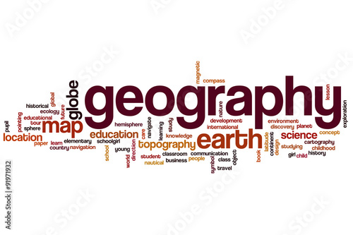 Plagát  Geography word cloud concept