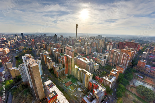 Deurstickers Afrika Hillbrow Tower - Johannesburg, South Africa
