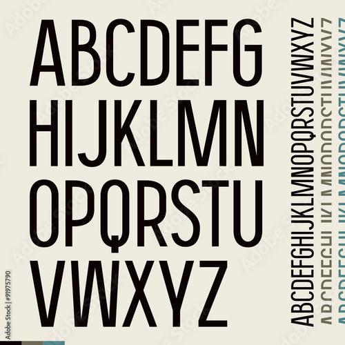 Fotografía  Sans serif font in newspaper style