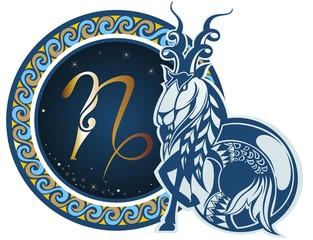 Fototapeta Znaki Zodiaku Zodiac signs - Capricorn