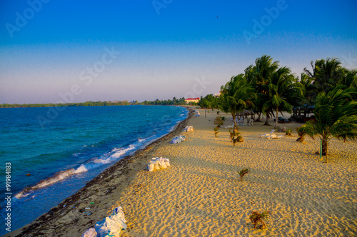 placencia beach in belize Wallpaper Mural
