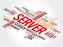 Server Word Cloud, Business Concept