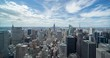 New York City Manhattan buildings skyline time-lapse daytime