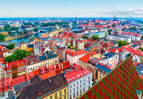 plakat Aerial panorama of Wroclaw, Poland