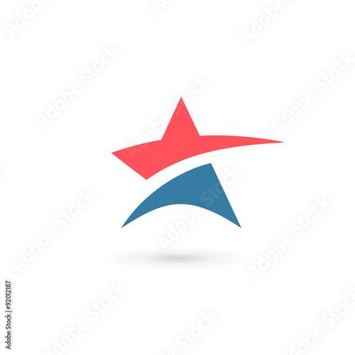 Obraz Abstract star logo icon design template elements - fototapety do salonu