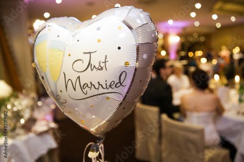 Ballon, Herz, bei einer Hochzeit Wallpaper Mural