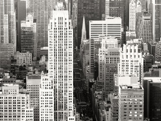 Plakat Black and white view of New York City