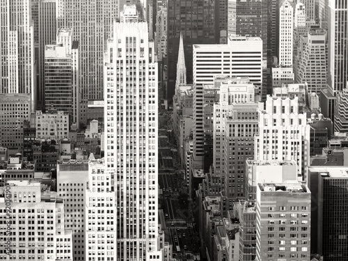 Black and white view of New York City