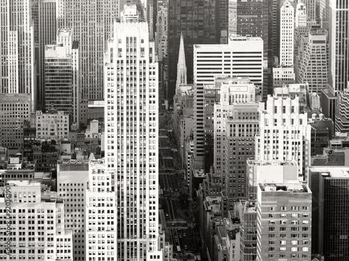 Naklejka na okno łazienkowe Czarno-biały widok na Nowy Jork