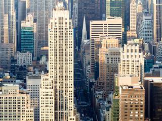 Fototapeta Nowy York Urban view of New York City with landmark skyscrapers