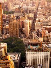 Sunset Over Midtown Manhattan In New York