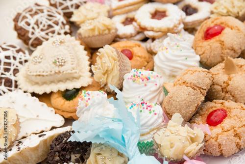 Assortimento di dolci sardi, various Sardinian sweets