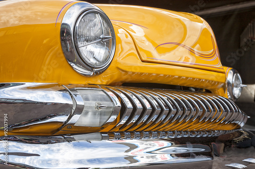 фотография  Dornbirn, Austrian, 12 June 2011: Front detail of Ford Thunderbi