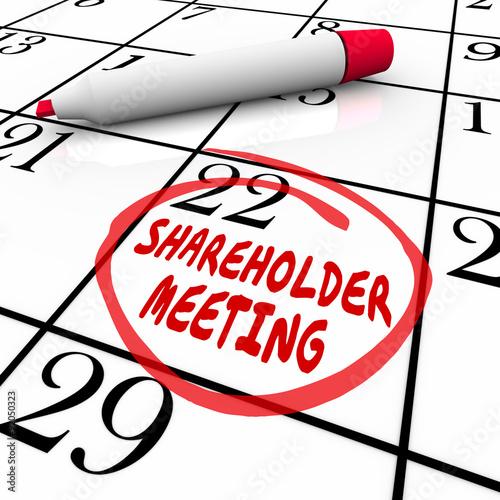 Fotografía  Shareholder Meeting Calendar Day Date Schedule Circled Reminder