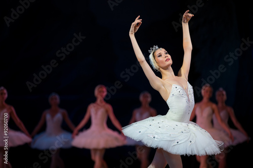 Photo Prima ballerina white swan