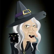 Ugly Dark Witch