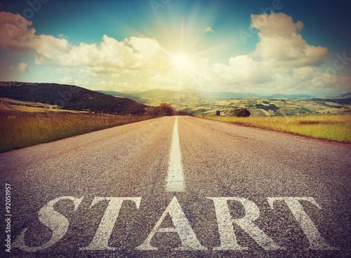Fotografie, Obraz  Začátek silnice