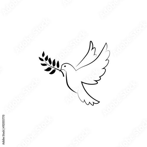 Pigeon olive peace Fototapete