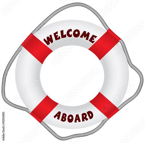 Photo Welcome aboard lifebuoy