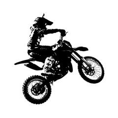 Fototapeta Rider participates motocross championship. Vector illustration.