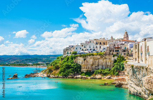 Vieste panoramic view, Apulia,south Italy Canvas Print