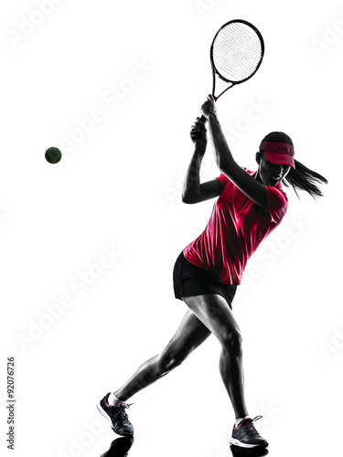 Plakát  woman tennis player sadness silhouette
