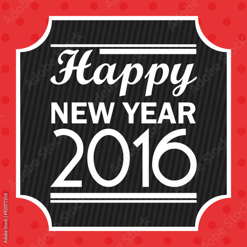 In de dag Route 66 Illustration Vector Graphic Happy New Year 2016