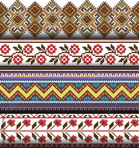 Foto auf AluDibond Boho-Stil Ethnic ukrainian seamless ornament