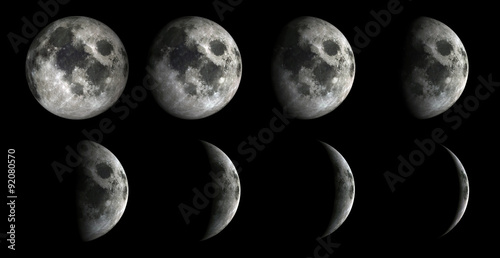 Moon Phases.Elements of this image furnished by NASA #92080570