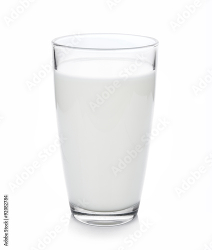 Valokuva  glass of milk isolated on white with clipping path included