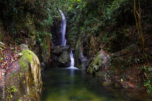 Printed kitchen splashbacks Water mountain stream