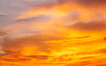 Orange Sky And Cloud