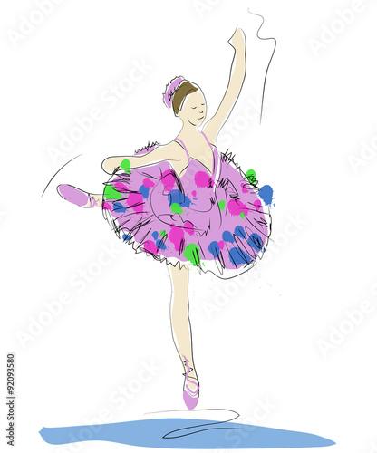 Obraz Baletnica - fototapety do salonu