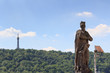 Statue and Petrin Lookout Tower in Prague