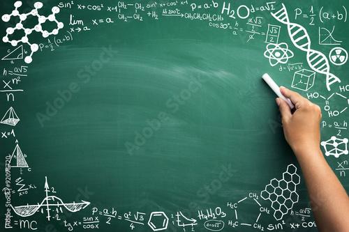 Obraz na płótnie math on blackboard
