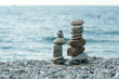Tower of stones on the beach